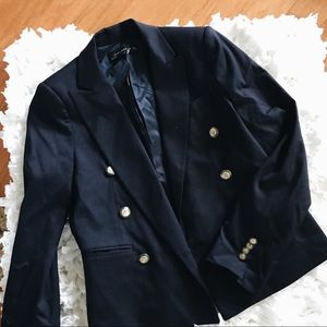 🔥ZARA WOMAN NAVY BLAZER